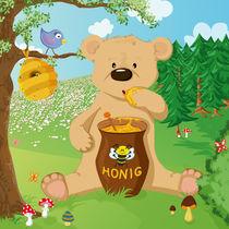 Bär mit Honig by Michaela Heimlich