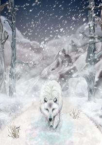 Snow Wolf by Cherie Gartner