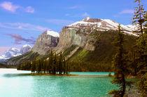 Maligne Lake und Insel Spirit Island in den Rocky Mountains von mellieha
