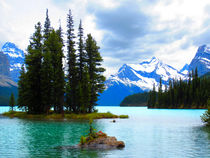 Maligne Lake mit Spirit Island by Marita Zacharias