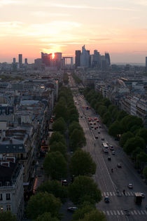 Champs Elysees from Arc de Triomphe by Daniel Zrno