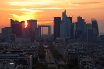 Champs Elysees from Arc de Triomphe von Daniel Zrno
