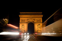 Arc de Triomphe at night von Daniel Zrno