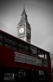 BW Big Ben and red London Bus von RicardMN Photography
