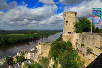 Tour du Moulin and the Loire River, Chinon, France by Louise Heusinkveld