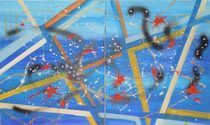 Abstraction bleue von myriam courty