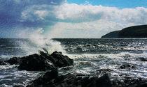 Landscape, North Sea waves Scotland  von Linda More