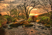 Sunrise at Padley Gorge. by Simon Gladwin