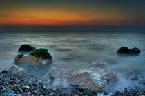 Criel Sur Mer Sunset von Simon Gladwin