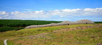 Grey Cairns of Camster, panoramic view, Scotland, UK von Linda More