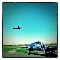 das silberne Flugzeug II von Frank Wöllnitz