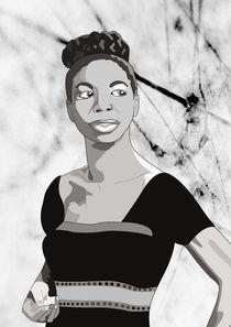 Nina Simone / comic book character von Anna Maggi