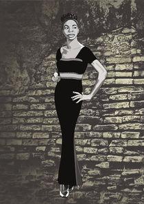 Nina Simone's silhouette von Anna Maggi