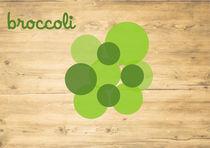 Minimal vegetable - broccoli by Anna Maggi