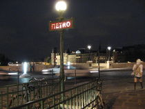 Paris la nuit - Metro by Jennifer Jones