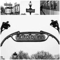 Paris Metro Collage schwarz-weiß von ms-photographs