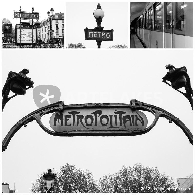 Paris Metro Collage Schwarz Weiss Photography Art Prints And Posters