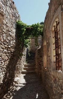 Stone staircase (Spinalonga fortress) by Lina Shidlovskaya
