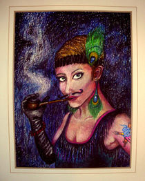 Madame-cupcake-oil-pastels-on-paper-19-x-28-aug-2012-john-lanthier