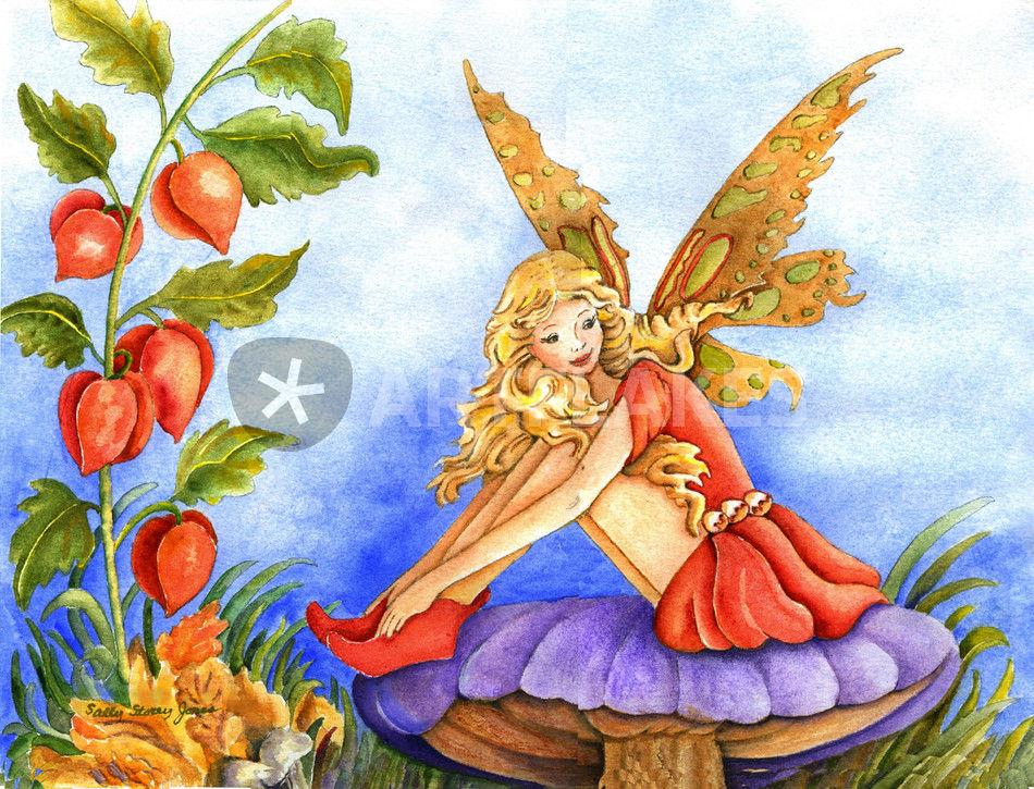 Sitting on a Mushroom Painting