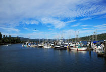Government Wharf in Sooke Harbour, British Columbia von Louise Heusinkveld