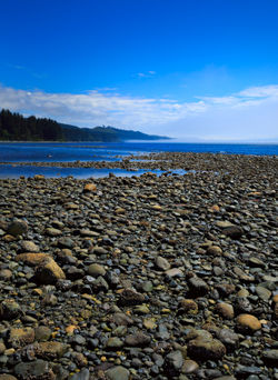 Pebble-beach-at-low-tide