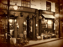 Victorian Street Scene in Sepia von Colin Metcalf