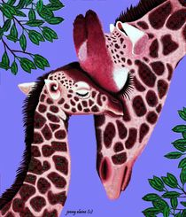 The Graceful Giraffe and Baby by Jenny Sorge