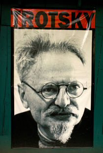POSTER OF LEON TROTSKY by John Mitchell
