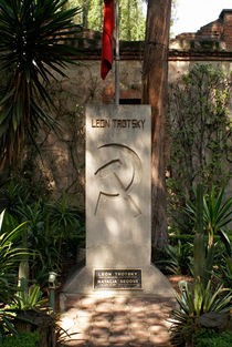 LEON TROTSKY'S TOMB IN MEXICO CITY by John Mitchell