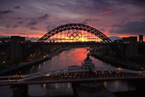 Tyne Bridges at Sunrise von David Pringle