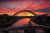 Tyne Bridges at Sunrise II by David Pringle