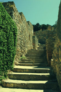 Old Stone staircase (Spinalonga fortress) von Lina Shidlovskaya
