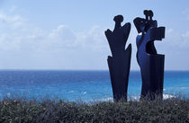 ISLA MUJERES SCULPTURES Mexico by John Mitchell