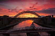 Tyne Bridges at Sunrise III von David Pringle