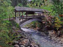 Holzbrücke bei Bad Hindelang von Elisabeth Maier