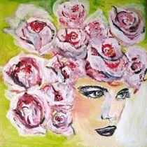 Rosenfrau 40 x 40 cm by atelier-farbenherz