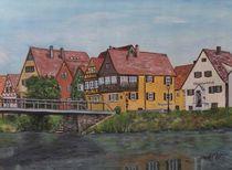 Neckarprominade Rottenburg von Elisabeth Maier