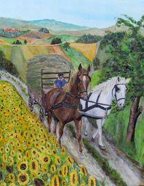 Pferdefuhrwerk von Elisabeth Maier