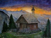 Sonnenaufgang in den Bergen by Elisabeth Maier