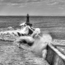 Waves at Tynemouth Pier von David Pringle