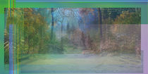 Rainbowstripes Art Green von Chris Andreami