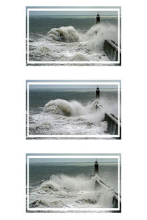 Tynemouth Pier Triptych by David Pringle