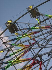 Neon Lights on Ferris Wheel by Guy  Ricketts