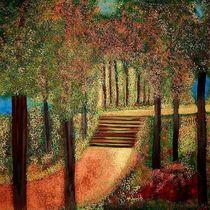 Acrylgemälde, Goldener Herbst A.Franikowski by Anke Franikowski