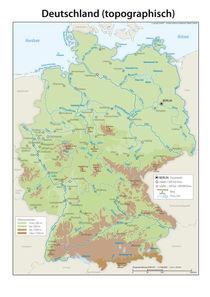 Deutschlandkarte topographisch von cartogis