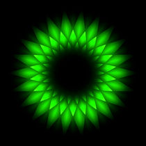abstract green geometric circle by Aleksey Odintsov