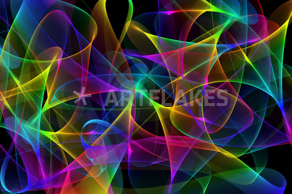 abstract colorful gradient waves digital art art prints and posters