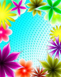 abstract floral frame by Aleksey Odintsov