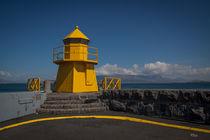 kleiner Leuchtturm--Island von Anne-Barbara Bernhard